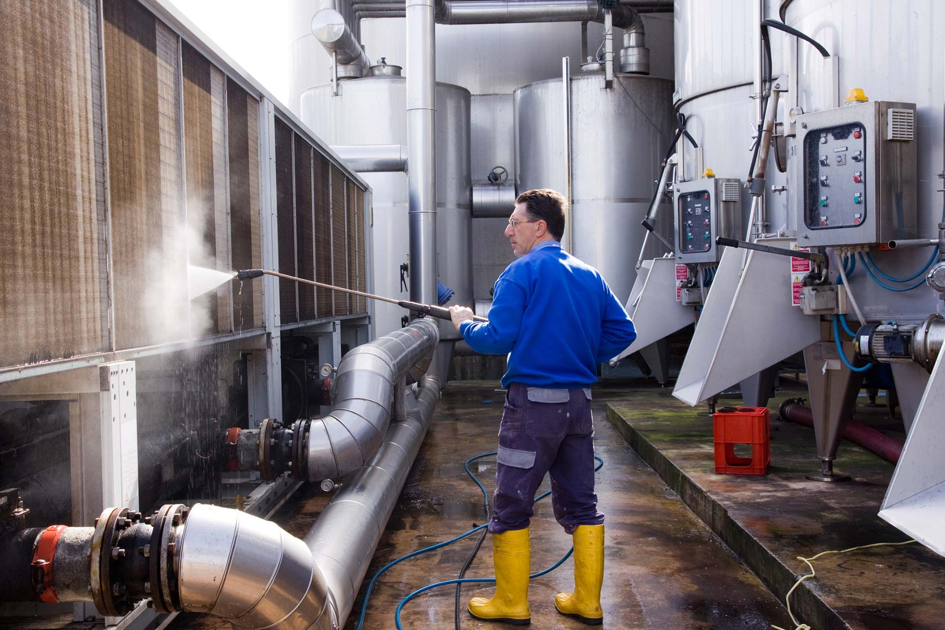 Interior and Exterior Pressure Washing Services from Foster Janitorial