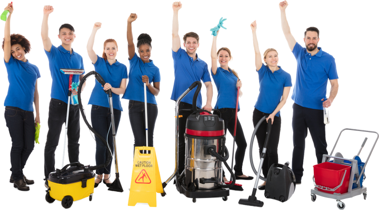 Janitorial-services-cleaning-office-team