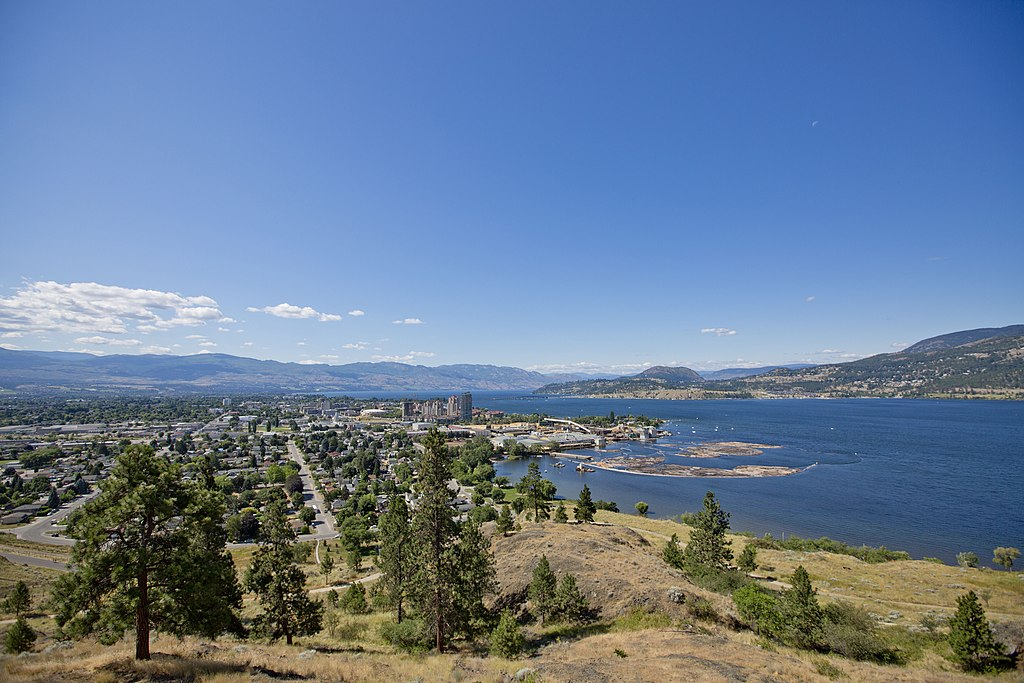 Kelowna City View from Knox Mountain